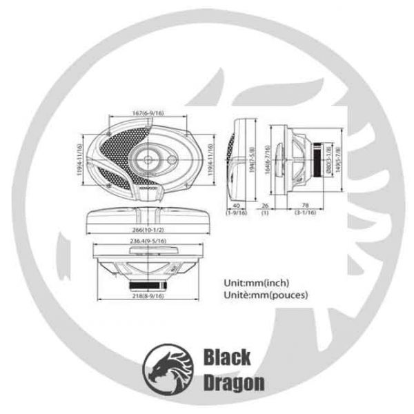 6934A-باند-کنوود-Kenwood-KFC-M6934A-Speaker