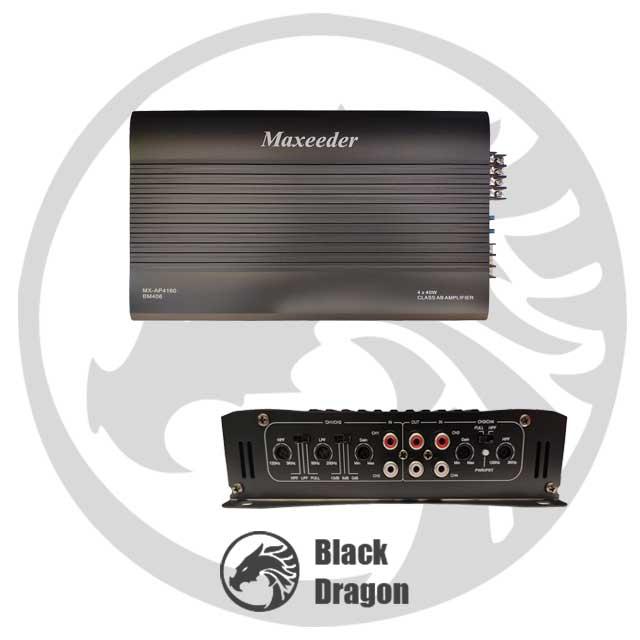 تنظیم-آمپلی-فایر-4-کانال-قیمت-سیستم-صوتی-maxeeder-MX-AP4160-Amplifier