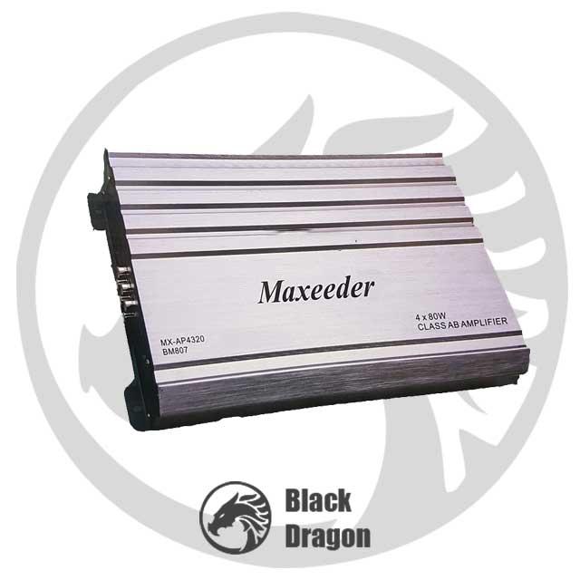 807-آمپلی-فایر-مکسیدر-چهار-کانال-maxeeder-MX-AP4320-BM-807-Amplifier