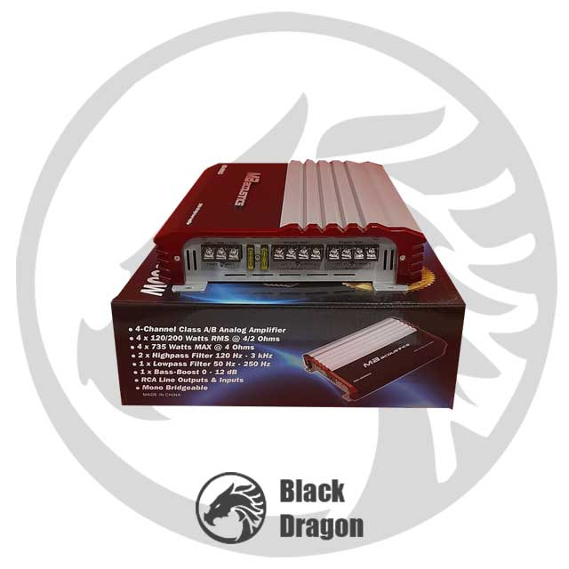 سیستم-صوتی-ماشین-ارزان-آمپلی-چهار-کاناله-MB-Acoustics-Amplifier